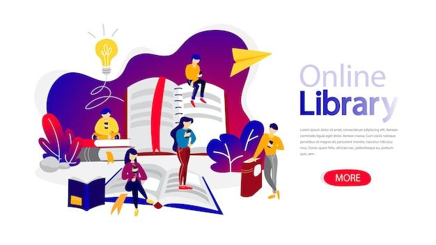 Modello di pagina di destinazione della libreria online