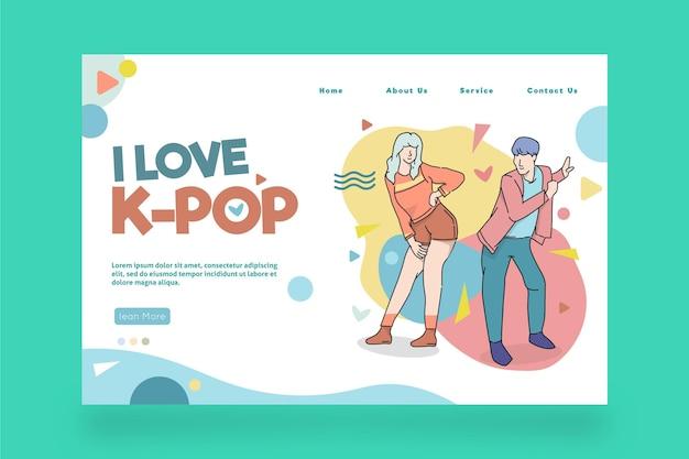 Modello di pagina di destinazione della musica k-pop