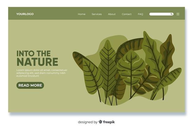 Modello di pagina di destinazione della natura