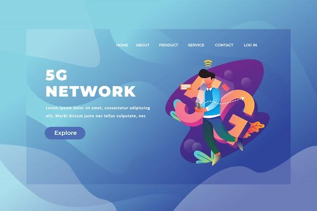 Modello di pagina di destinazione della rete 5g