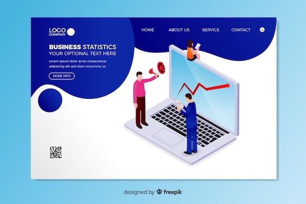 Modello di pagina di destinazione delle statistiche aziendali