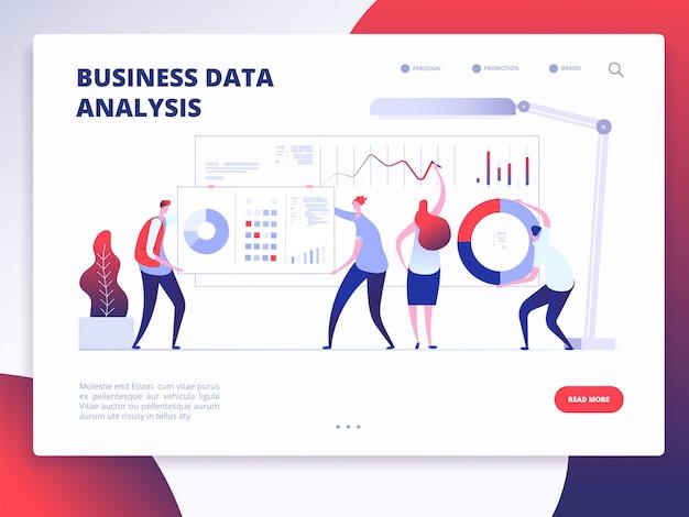 Modello di pagina di destinazione di analisi dei dati aziendali