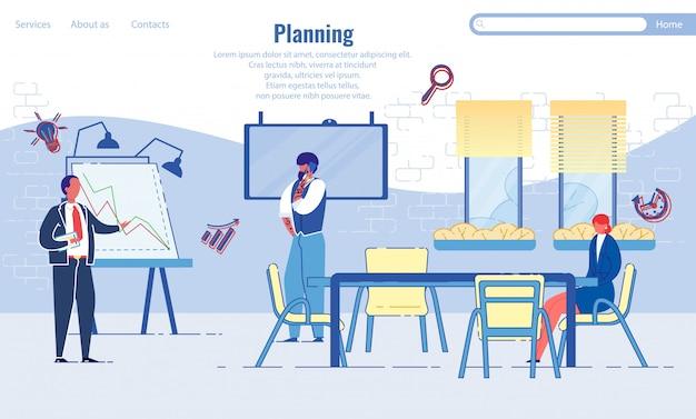 Modello di pagina di destinazione di pianificazione aziendale