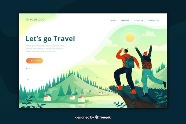 Modello di pagina di destinazione di viaggio