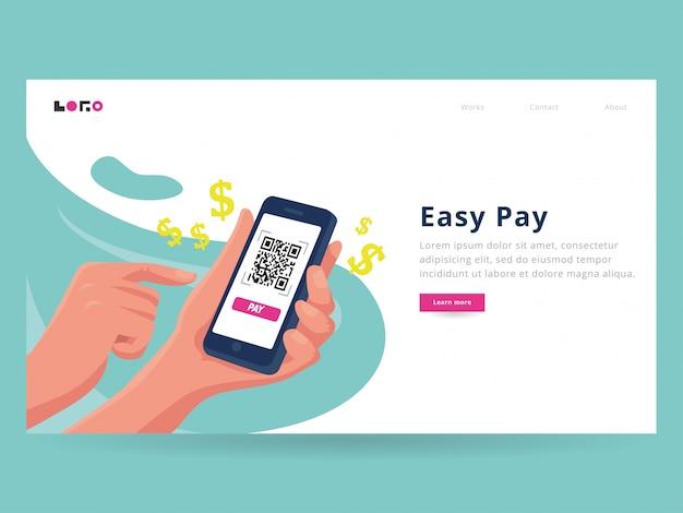 Modello di pagina di destinazione easy pay