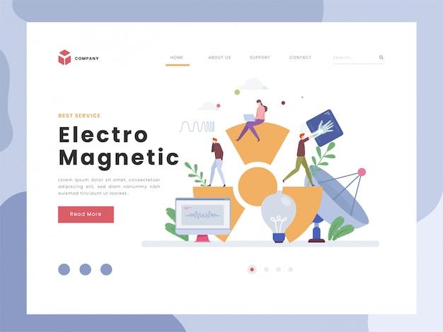 Modello di pagina di destinazione elettromagnetica