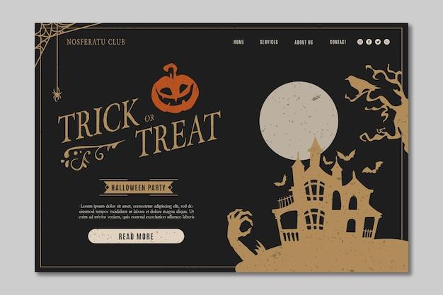 Modello di pagina di destinazione festa di halloween