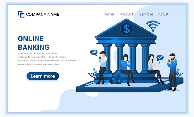 Modello di pagina di destinazione finanziaria
