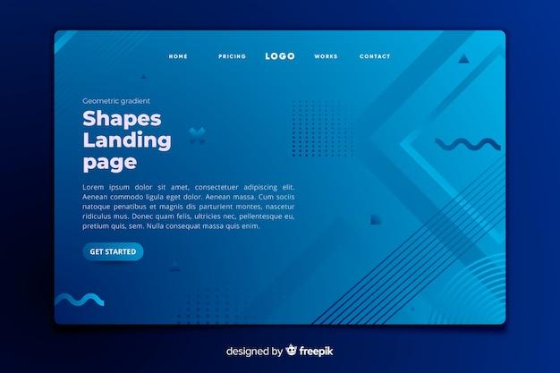Modello di pagina di destinazione forme geometriche
