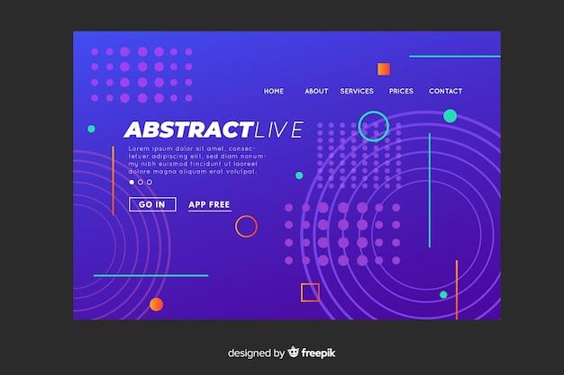 Modello di pagina di destinazione geometrico astratto