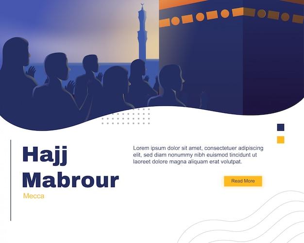 Modello di pagina di destinazione hajj mabrour