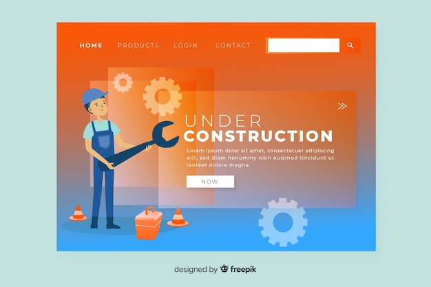 Modello di pagina di destinazione in costruzione