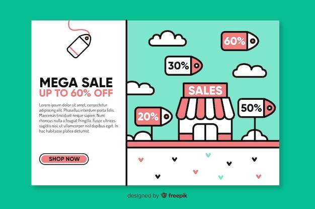 Modello di pagina di destinazione in vendita moda