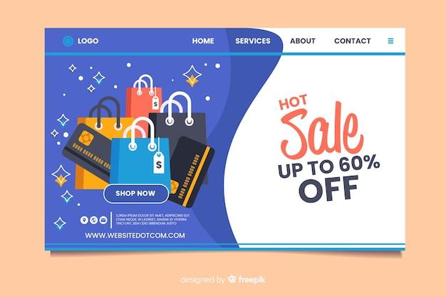 Modello di pagina di destinazione in vendita piatta