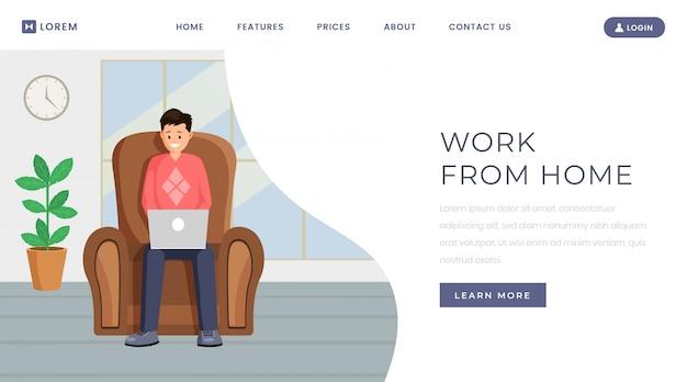 Modello di pagina di destinazione lavoro in outsourcing freelance