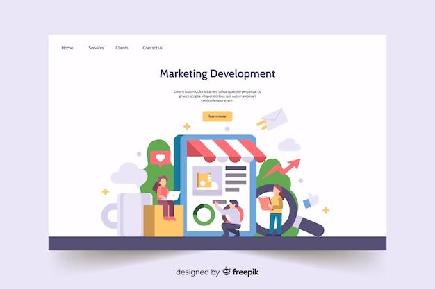 Modello di pagina di destinazione marketing semplice