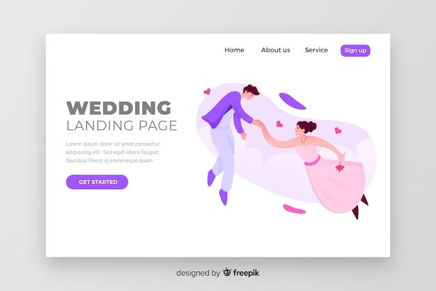 Modello di pagina di destinazione matrimonio elegante
