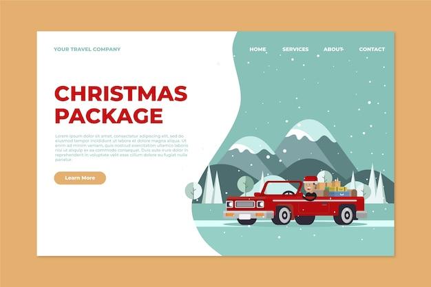 Modello di pagina di destinazione natale design piatto