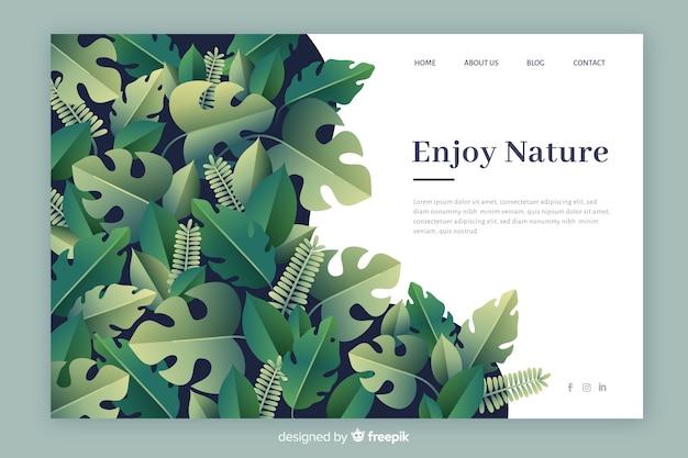 Modello di pagina di destinazione natura