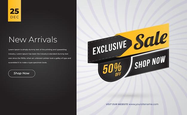 Modello di pagina di destinazione offerta speciale di vendita