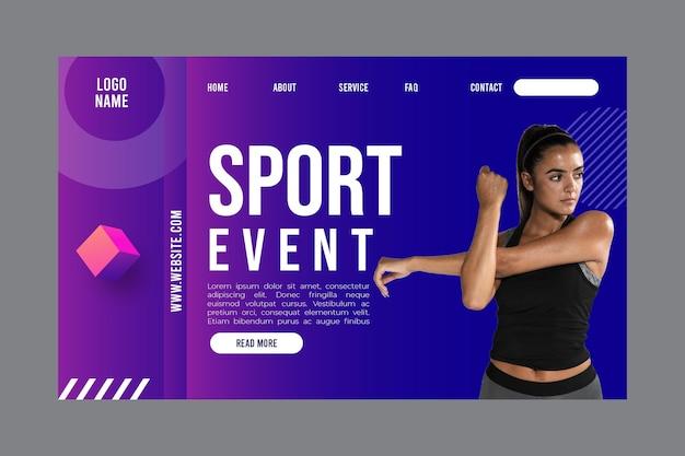 Modello di pagina di destinazione per attività di fitness