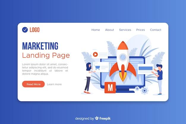Modello di pagina di destinazione per il marketing