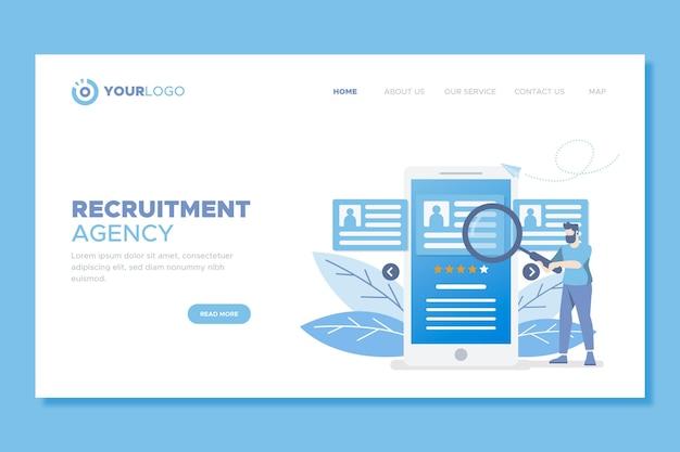 Modello di pagina di destinazione per il reclutamento