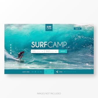 Modello di pagina di destinazione per il surf