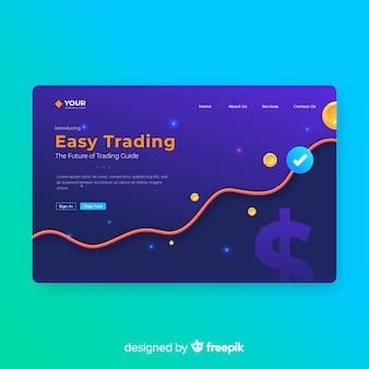 Modello di pagina di destinazione per il trading