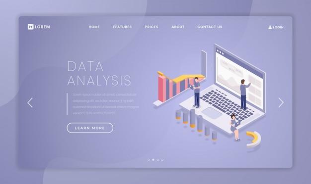 Modello di pagina di destinazione per l'analisi dei dati finanziari
