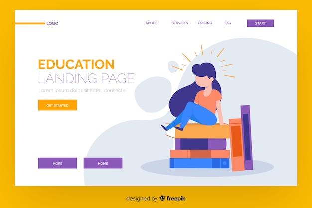 Modello di pagina di destinazione per l'educazione online