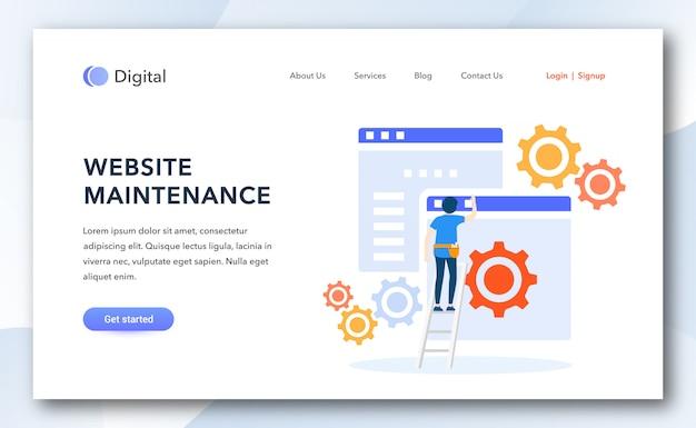 Modello di pagina di destinazione per la manutenzione del sito web