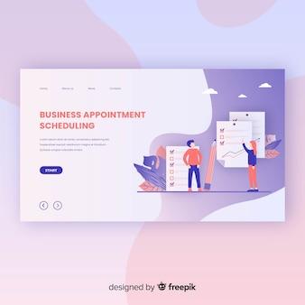 Modello di pagina di destinazione per la pianificazione dell'appuntamento aziendale