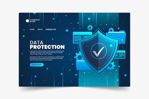 Modello di pagina di destinazione per la protezione dei dati