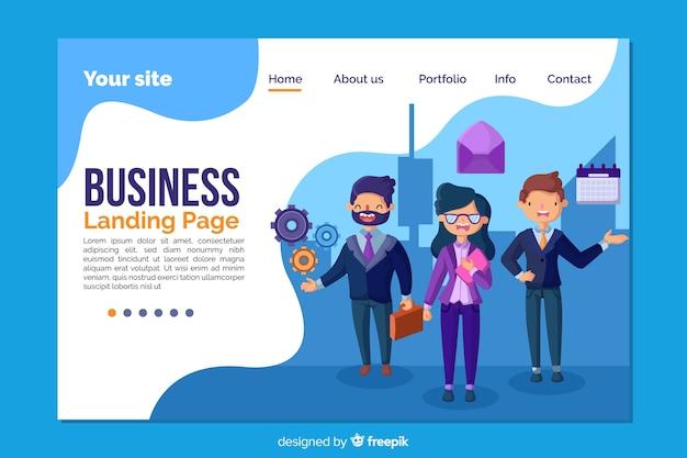 Modello di pagina di destinazione per le imprese