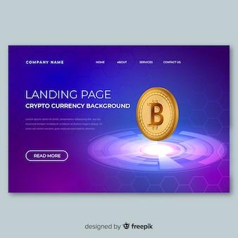 Modello di pagina di destinazione per lo scambio di criptovaluta