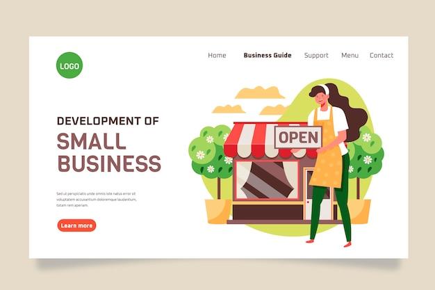 Modello di pagina di destinazione per piccole imprese