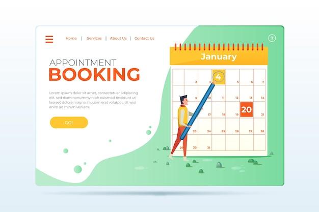 Modello di pagina di destinazione prenotazione appuntamento