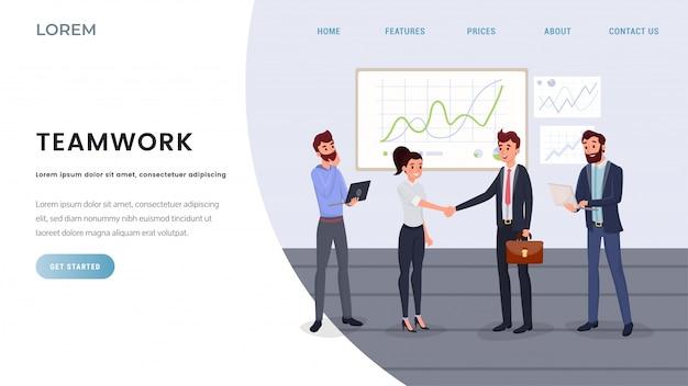 Modello di pagina di destinazione professionale per team di lavoro