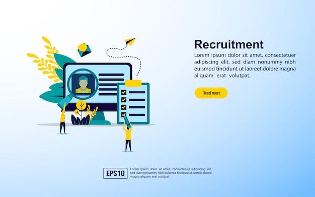 Modello di pagina di destinazione. reclutamento