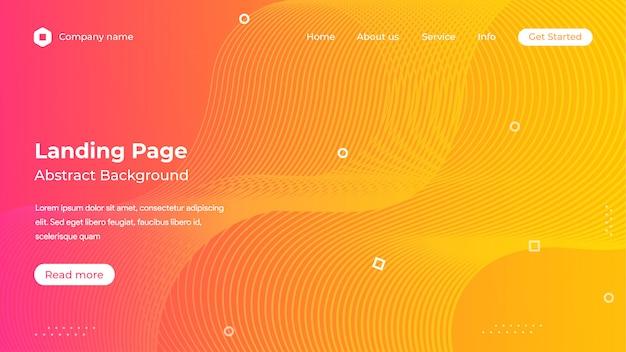 Modello di pagina di destinazione sito web arancione