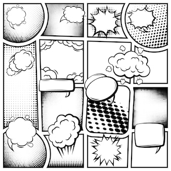 Modello di pagina di fumetti
