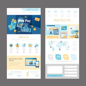 Modello di pagina di progettazione sito web