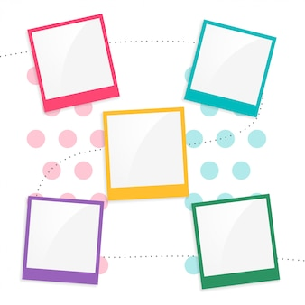 Modello di pagina di scrapbook colorato per bambini