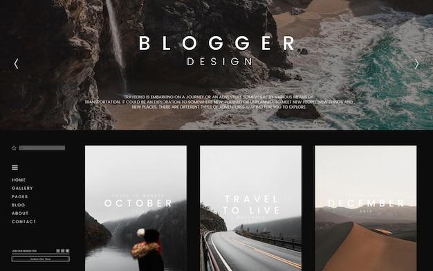 Modello di pagina principale del blog