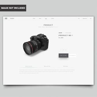 Modello di pagina prodotto del sito web moderno