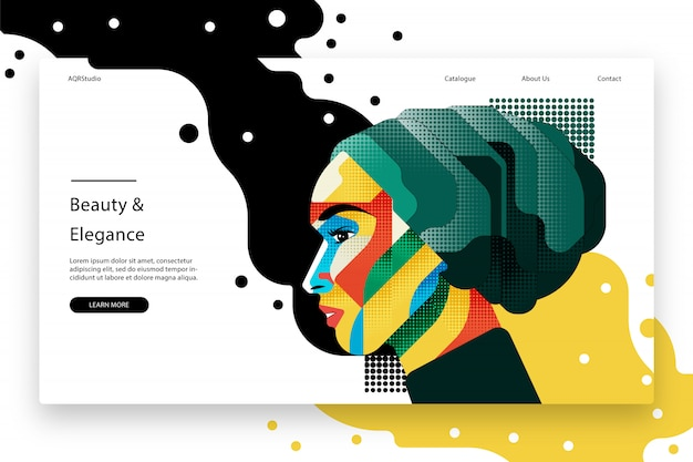 Modello di pagina web creativo
