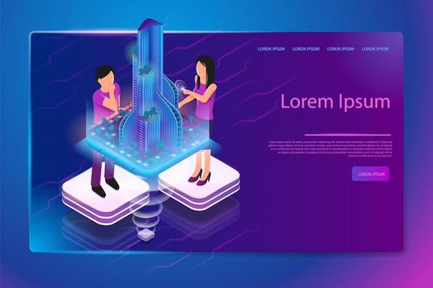 Modello di pagina web di azienda architettonica innovativa