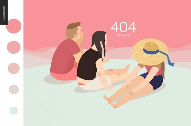 Modello di pagina web di errore 404
