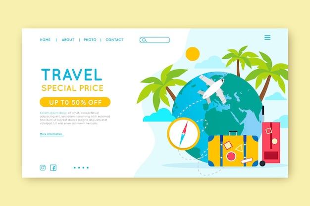 Modello di pagina web di vendita di viaggi